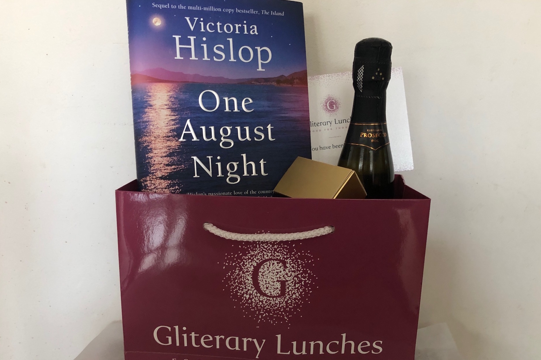 Victoria Hislop Event, VIP Gift Package